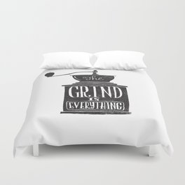 the daily grind Duvet Cover