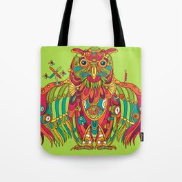 Owl, cool art from the AlphaPod Collection Tote Bag