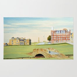 St Andrews Golf Course 18th Hole Rug