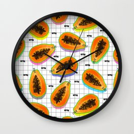 papaya Wall Clock