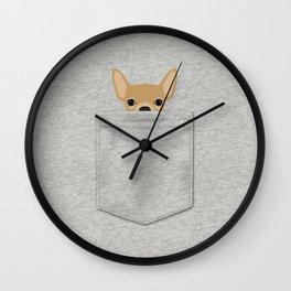 Pocket Chihuahua - Tan Wall Clock