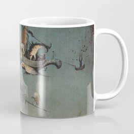 Hieronymus Bosch flying ships and creatures Coffee Mug