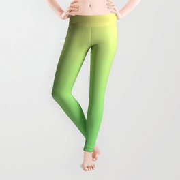 Green to Yellow Ombre Shaded Lemon and Lime Sorbet Ice Cream Gelato Leggings