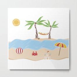 Summer Beach Fun Metal Print