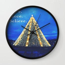 Love. Piece. Believe. Wall Clock