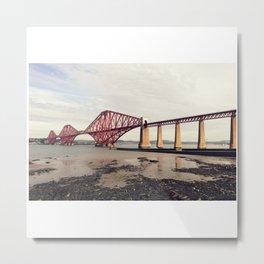 The Firth of Forth Bridge; 1890 Metal Print