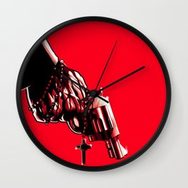 FORGIVE ME FATHER, Grip of Virtue Wall Clock
