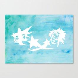 Kingdom Hearts Watercolor Canvas Print