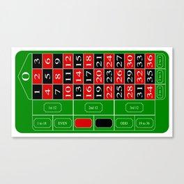 Roulette Table Canvas Print