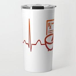 PHARMACIST HEARTBEAT Travel Mug