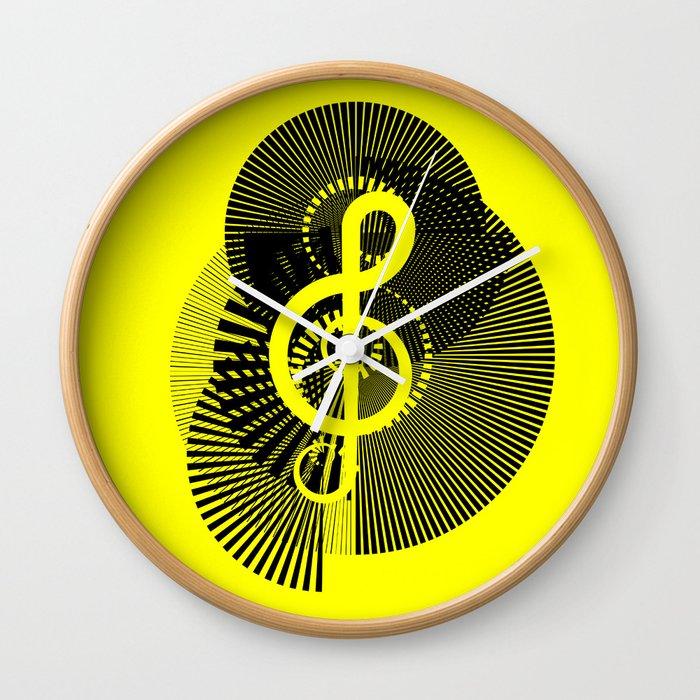 Clef Wall Clock