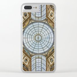 Ceiling of the Galleria Vittorio Emanuele II, Milan Clear iPhone Case