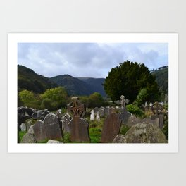 Monastery in Glendalough, Ireland Art Print
