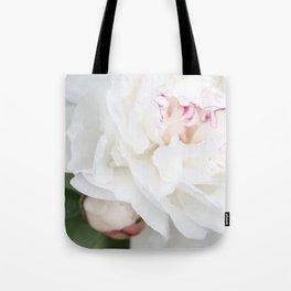Bashful Peony Tote Bag