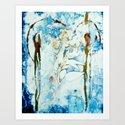 Painterly Floral Monoprint by oddduckpress