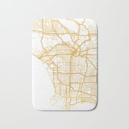 LOS ANGELES CALIFORNIA CITY STREET MAP ART Bath Mat