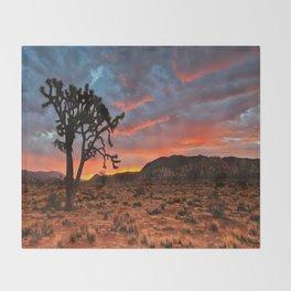 Joshua Tree Sunrise Throw Blanket