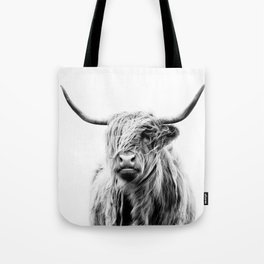 portrait of a highland cow Tote Bag