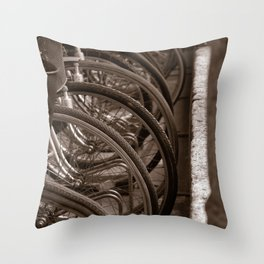 Bycicles Throw Pillow