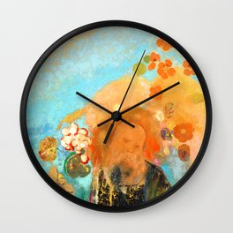 """Odilon Redon """"Evocation of Roussel"""" Wall Clock"""