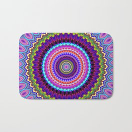 purple feathers Mandala Bath Mat
