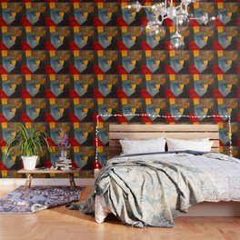 Otto Freundlich Komposition 1930 Mid Century Modern Abstract Colorful Geometric Painting Pattern Art Wallpaper
