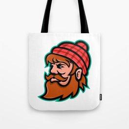 Paul Bunyan Lumberjack Mascot Tote Bag