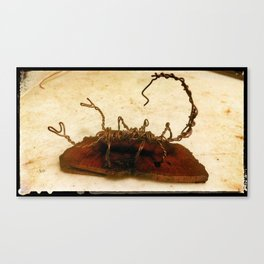 Copper Wire Scorpion Sculpture Canvas Print