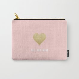 POWDER PINK LOVE | you are mine Carry-All Pouch