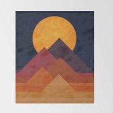 Full moon and pyramid Throw Blanket