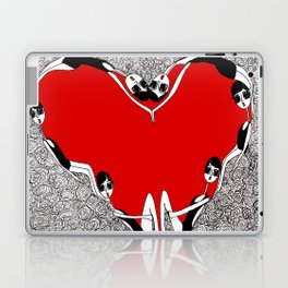 make a heart Laptop & iPad Skin
