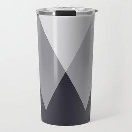 Sawtooth Inverted Blue Grey Travel Mug
