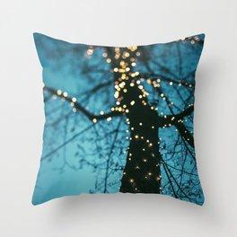 Bokeh tree. Throw Pillow