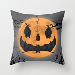 Halloween Moon Throw Pillow