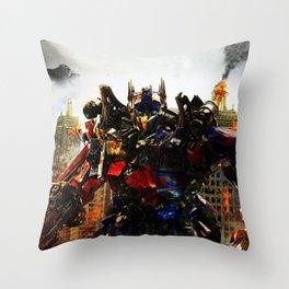 leader robot Throw Pillow