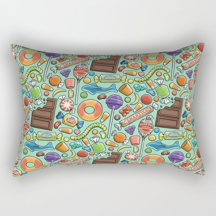Candy Pattern Rectangular Pillow