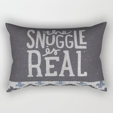 the snuggle is real Rectangular Pillow