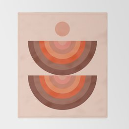 Abstraction_SUN_Rainbow_Minimalism_001 Throw Blanket