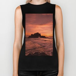Pacific Sunset. Biker Tank