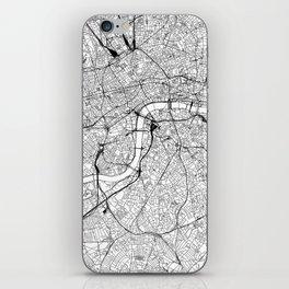 London White Map iPhone Skin