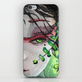 Geisha in Leaves: The Sentimental Concubine iPhone Skin