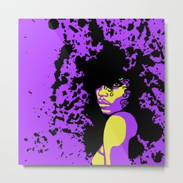 Purple Splatter Metal Print