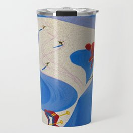 Vintage Winter Sports in France Travel Travel Mug