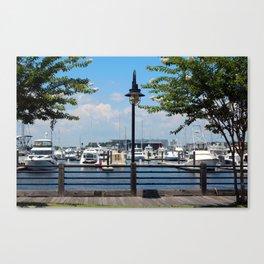 Riverfront Scene Canvas Print
