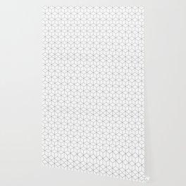 3D Cubes Line Pattern Wallpaper