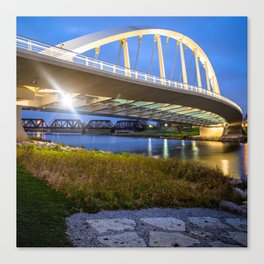 Columbus Bridge - Main Street over Scioto River - 1x1 Canvas Print