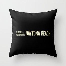 Black Flag: Daytona Beach Throw Pillow