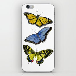 3 Butterflies iPhone Skin