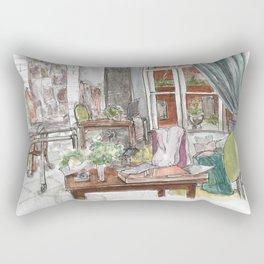 Will and Grace - Grace Adler Designs Studio Watercolor Painting Rectangular Pillow