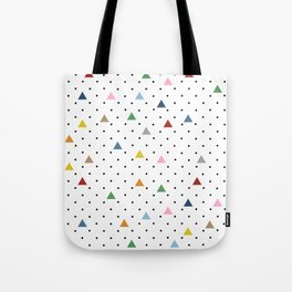 Pin Point Triangles Tote Bag